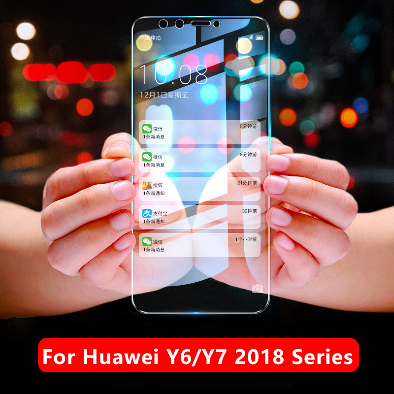 <font><b>Tempered</b></font> <font><b>Glass</b></font> For <font><b>Huawei</b></font> Y6 Y7 <font><b>Prime</b></font> <font><b>2018</b></font> Protective Glas On Huawey Honor <font><b>Y</b></font> <font><b>6</b></font> 7 6y 7y Y62018 Y72018 Screen Protector Phone Film image