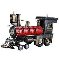 Steam Locomotive Model Vintage Metal Locomotive In 1857 Photographic Props Iron Artcrafts Home Docoration Window Display