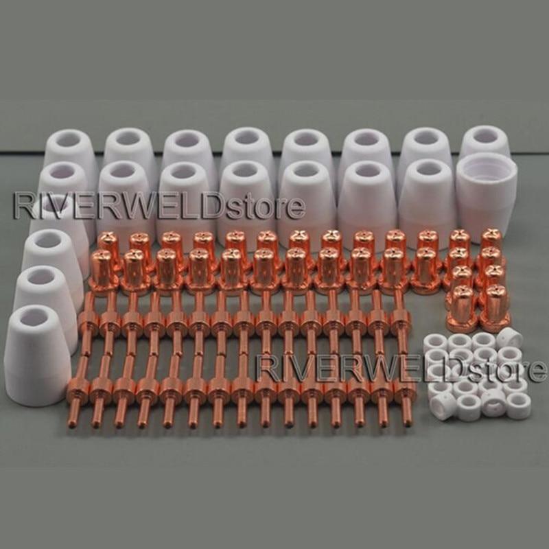 PT 31 LG 40 Plasma Cutter Cutting Torch Consumables Accessories Extendeds Tips/Nozzles Fit Cut 40 Cut 50D, 100PK