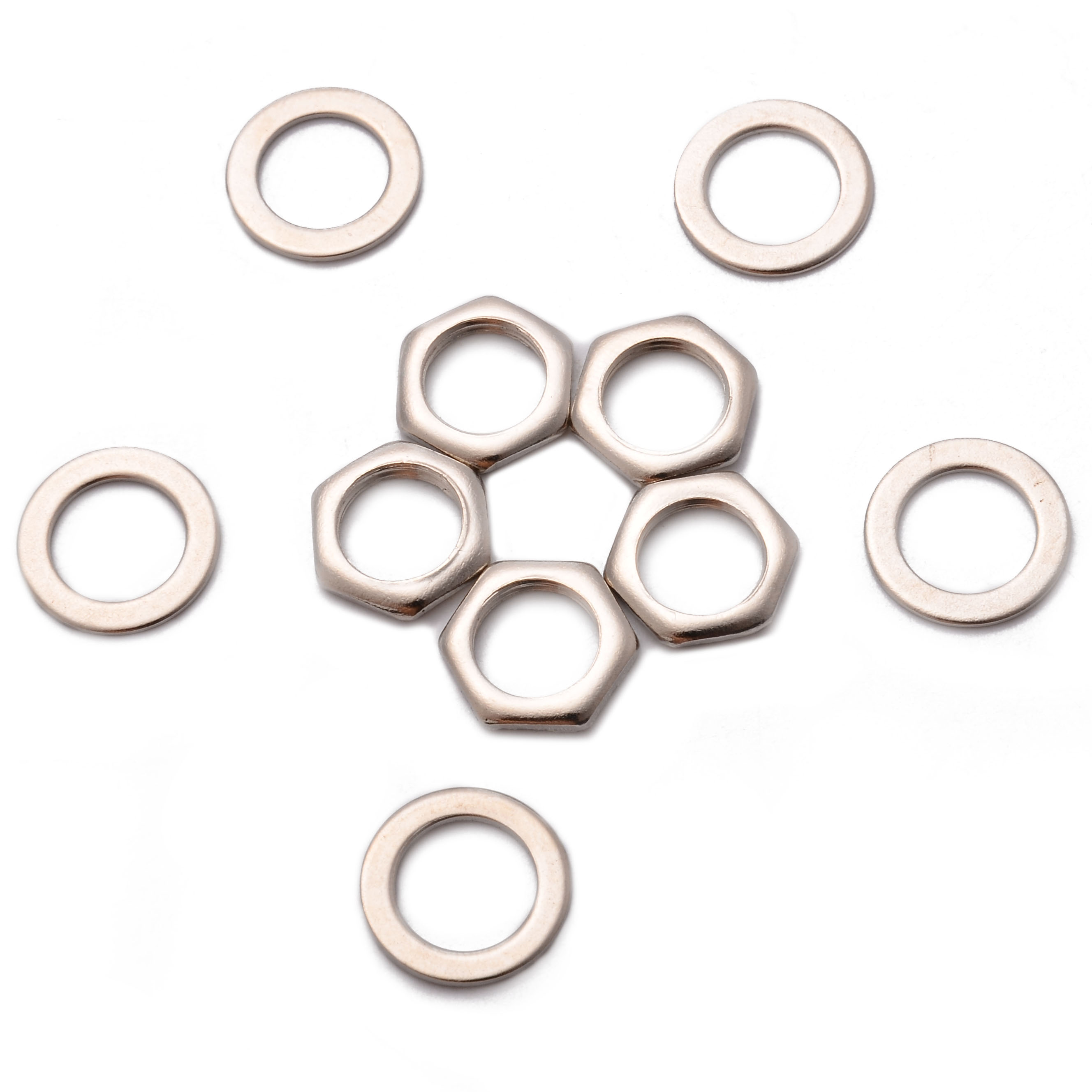 1set 5Pcs Electric Guitar Output Input Jack Replacement Nuts Washers Gaskets For Electric Guitars And Bass Accessories