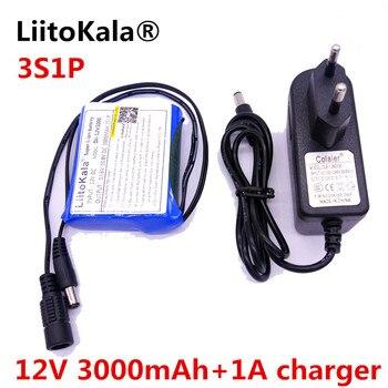 Liitokala 12V 12V 3000 mAh batería recargable de iones de litio recargable Y La c Mara de CCTV Cargador + 1A Cargador de batería