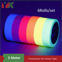 YX Fluorescent UV Cotton Tape Matt Night Self-Adhesive Glow In The Dark  Luminous Tape For Party Floors Stages Whiteboard