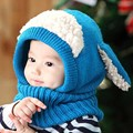 Kids Siamese Scarf Winter Baby Wool Winter Hat Hot Sale Beanie Hats Hooded Scarf Earflap Knit Cap Toddler Cute Chrismas Gift a2