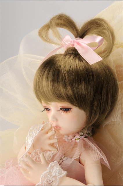 MSD 1/4 7-8inch  DOll wig Fountain Synthetic Mohair BJD Wigs High Quality Soft BJD Doll Hair  Fashionable Lovly BB wig