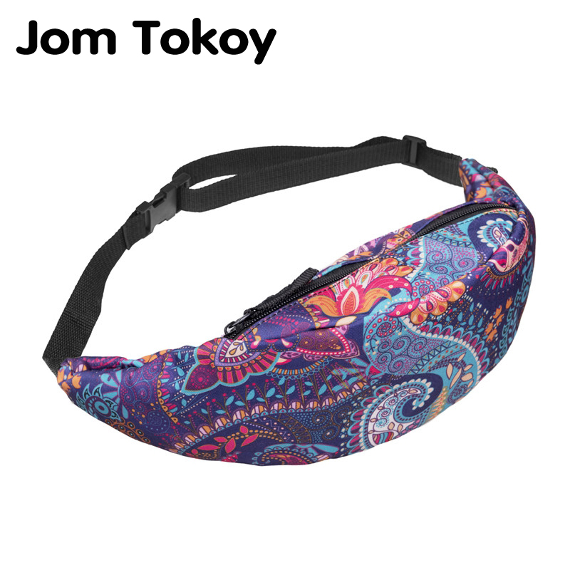 Jom Tokoy New Colorful Waist Bag For Men Fanny Packs Style Belt Bag Women Waist Pack Travelling Mobile Phone Bags