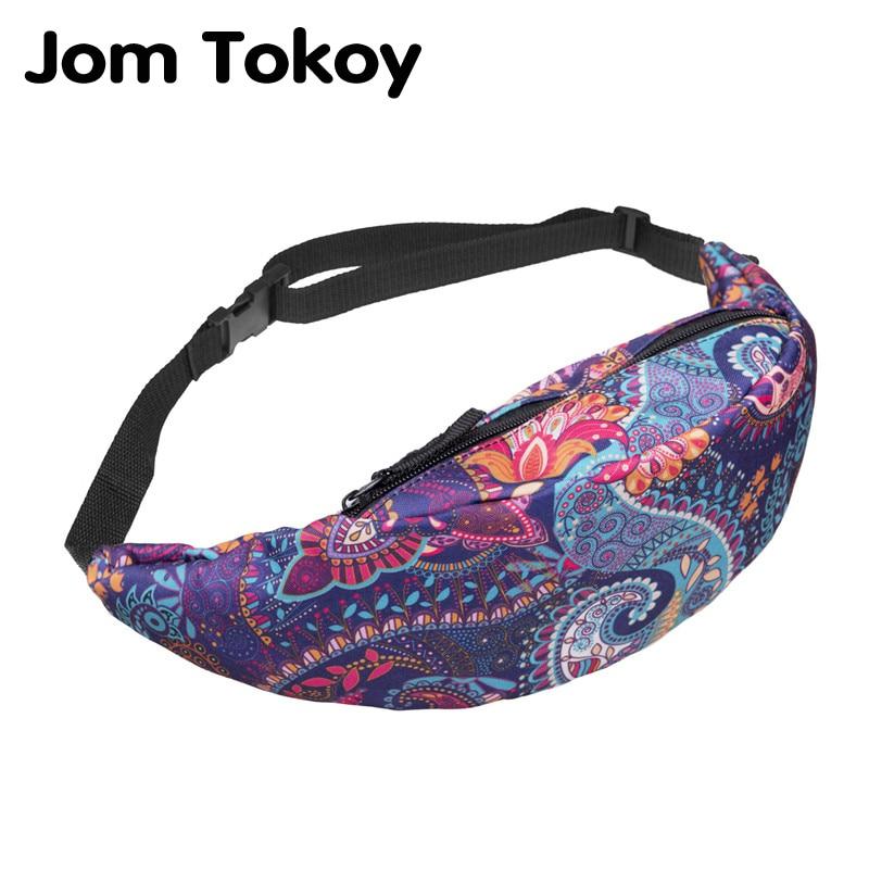 Jom Tokoy New Colorful Waist Bag For Men Fanny Packs Style Belt Bag Women Waist Pack Travelling Mobile Phone Bags