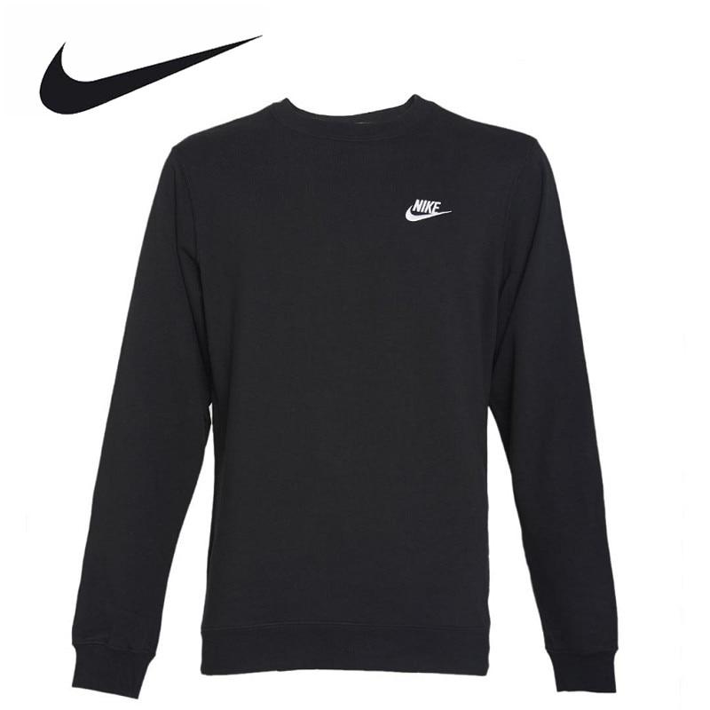 Nike Original New Arrival Official NSW CRW CLUB Men's Breathable Pullover Jerseys Sportswear 804343-010