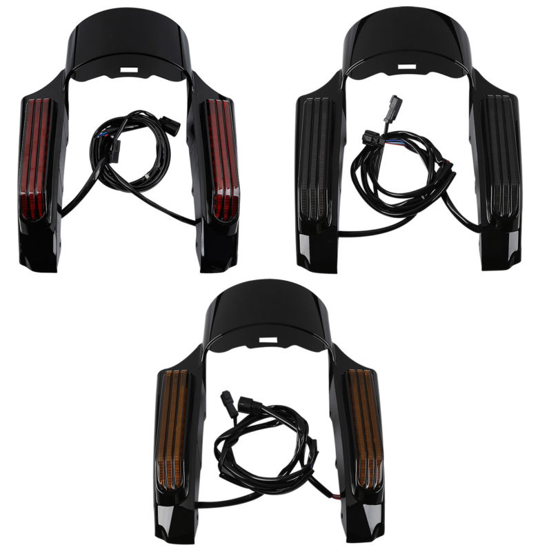 Motorcycle LED Light Rear Fender Fascia Set For Harley Touring Electra Street Road Glide FLHR FLHX FLTRX FLHTCU 14-18