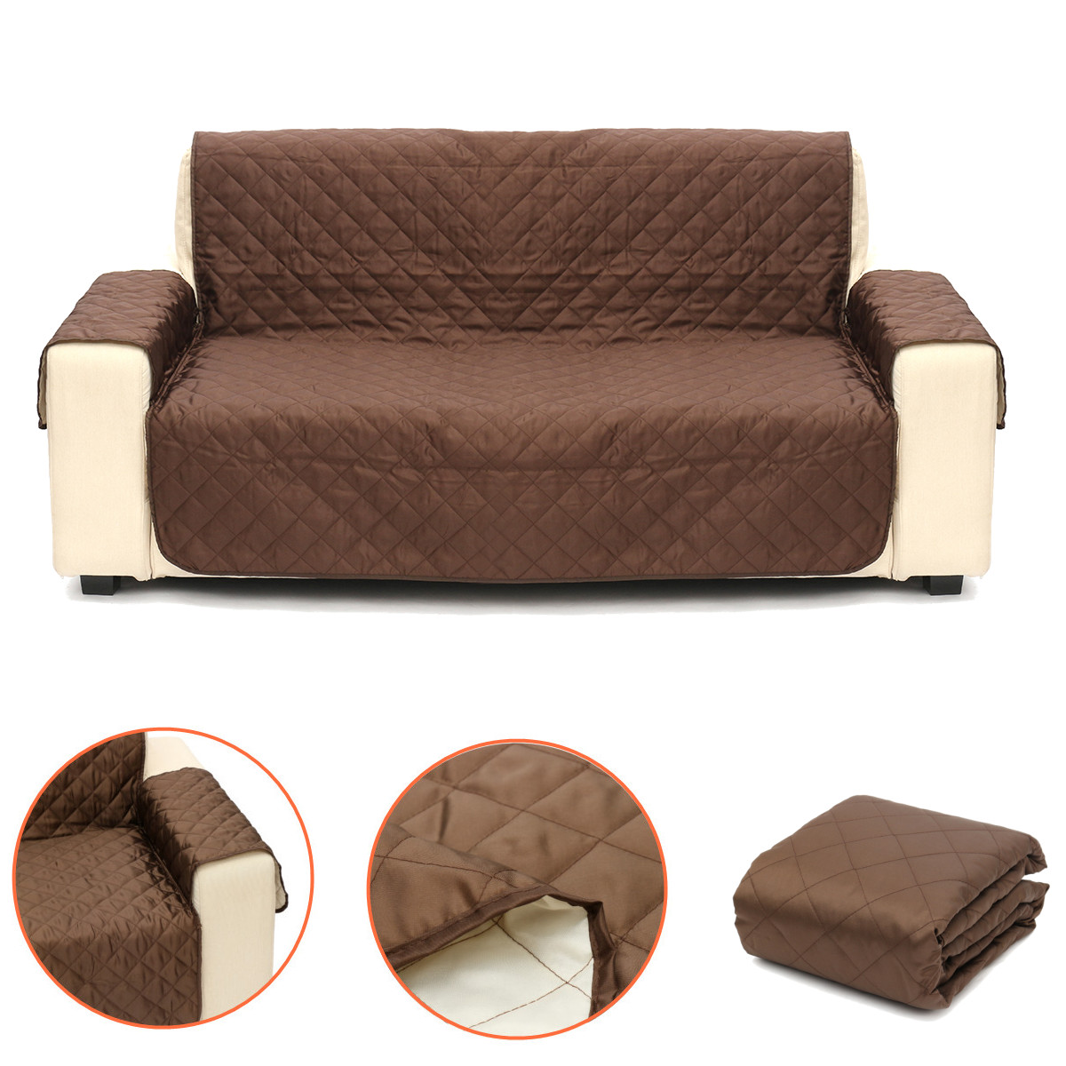 Peachy Us 13 53 42 Off Pet Dog Sofa Slipcovers Furniture Couch Protective Seat Cover Pad Reversible Cushion Fits 2 Seats Chocolate In Sofa Cover From Home Lamtechconsult Wood Chair Design Ideas Lamtechconsultcom