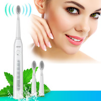 Seago SG 507 USB Rechargeable Electric Toothbrush Adult Waterproof Deep Clean Teeth Brush With 2 Replacement