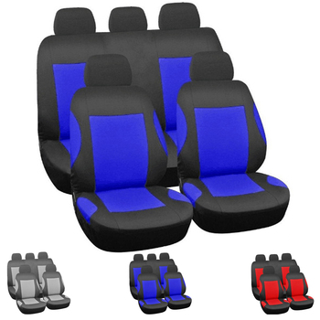 Dewtreetali Four Seasons Automobiles Seat Cover Polyester Seat Protector Universal Car Seat Covers Four Seasons Red Blue Gray