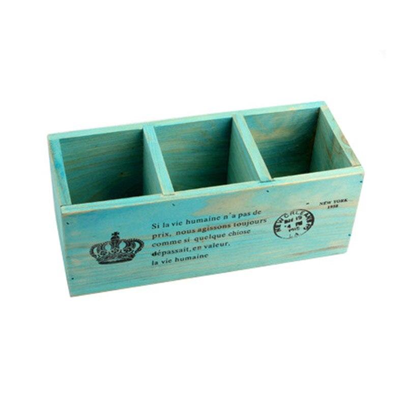 가정과 정원 다기능 나무로되는 저장 상자 나무 상자 연필 상자 탁상용 저장 상자 사무실 책상 주최자 가정 장식
