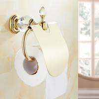 Paper Holder Gold Toilet Paper Roll WC Porte Papier Toilette Wall Mounted Bathroom Paper Holder Papier Toilette Support HK 40