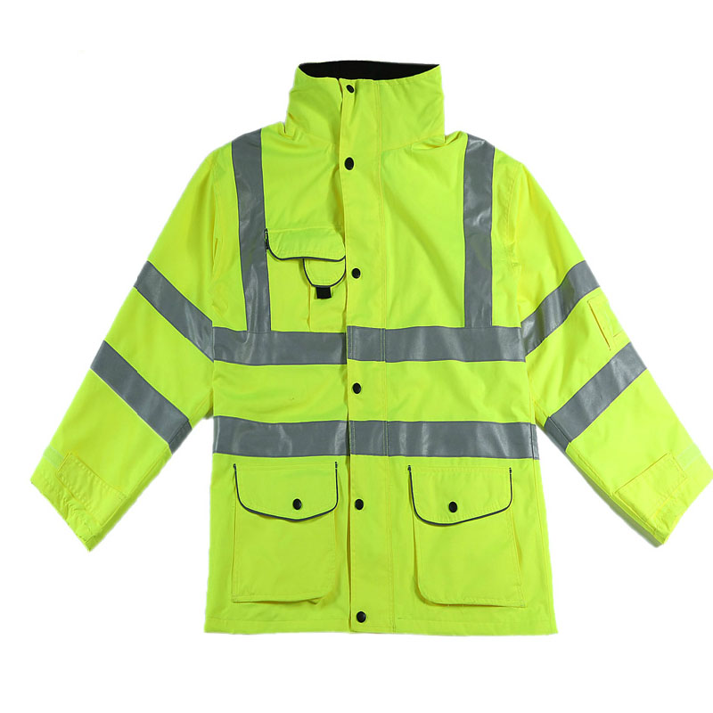 Safety Clothing Buy Cheap Reflective Jacket Safety Gear Night Reflective Coat Waterproof Three Pockets Size S-m Customize Logo Printing Wholesales V120083 Convenient To Cook Security & Protection