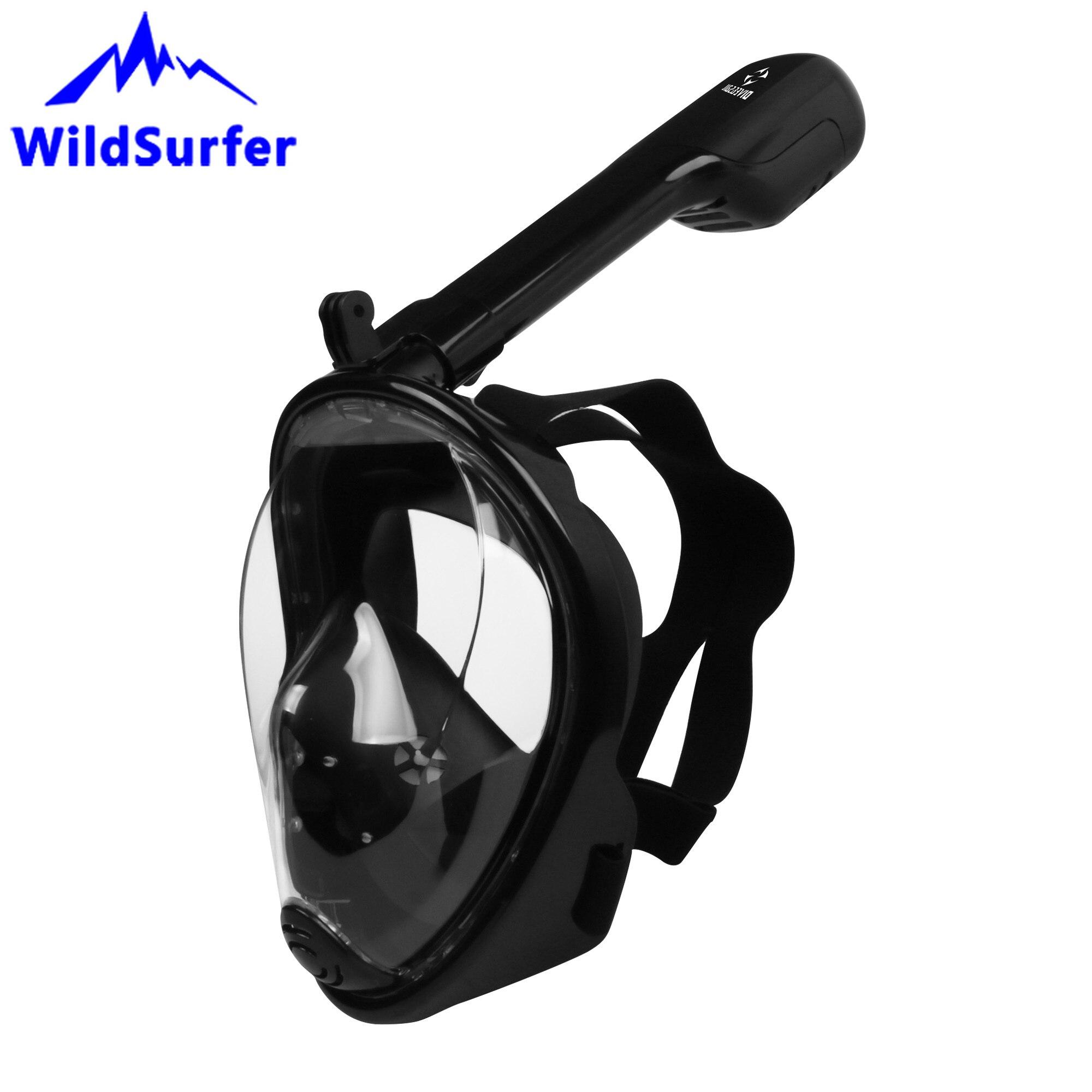 Masque de plongée sous-marine plein visage WildSurfer adultes pliable tout-sec Anti-brouillard enfants masque de plongée Mascara de buceo