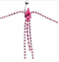 Stripper Delight So SEXY Rhinestone 3 Row simple CLASS Belt Belly Chain body chain navel waist chain 1pcs
