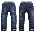BibiCola 2016 baby jeans trousers casual jeans kids autumn winter pants baby boys girls thicken warm cotton long pants