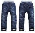 BibiCola 2016 calças de brim do bebê calças jeans casual crianças calças outono inverno calças compridas de algodão do bebê meninos meninas engrossar quente