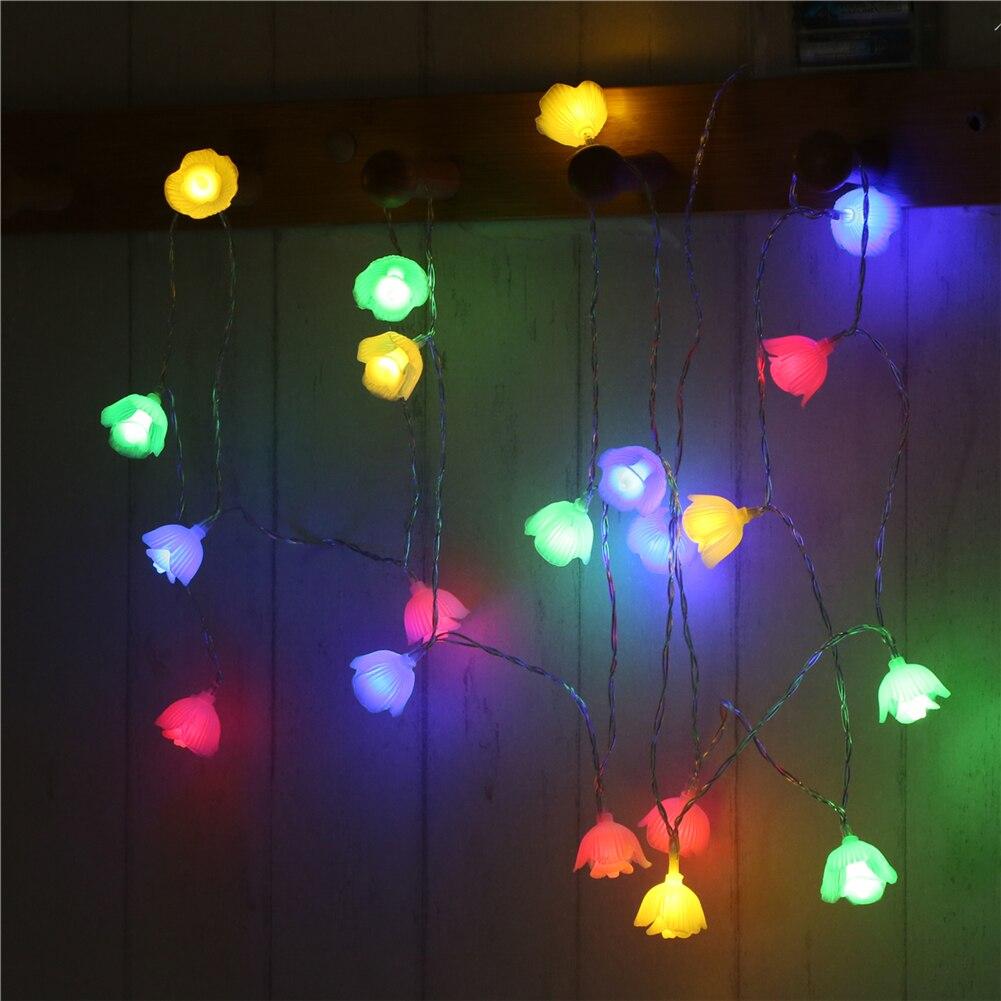 Fairy LightsFlower String Light 1.5M-10M,10L/20L/40L/96L,3AA/31V US/EU Room Weding Party Wall Window Home Decoration Children Night Lamp