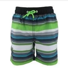 Boy beach shorts Striped Children swimwear 2-8 Years Quick Dry Boys Swimming