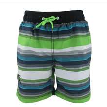 Boy beach shorts Striped Children swimwear 2-8 Years Quick Dry Boys Swimming shorts недорго, оригинальная цена