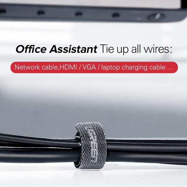 Ugreen câble organisateur enrouleur de fil support de câble 14cm pour souris cordon écouteur HDMI Aux USB câble de gestion fil câble protecteur 3