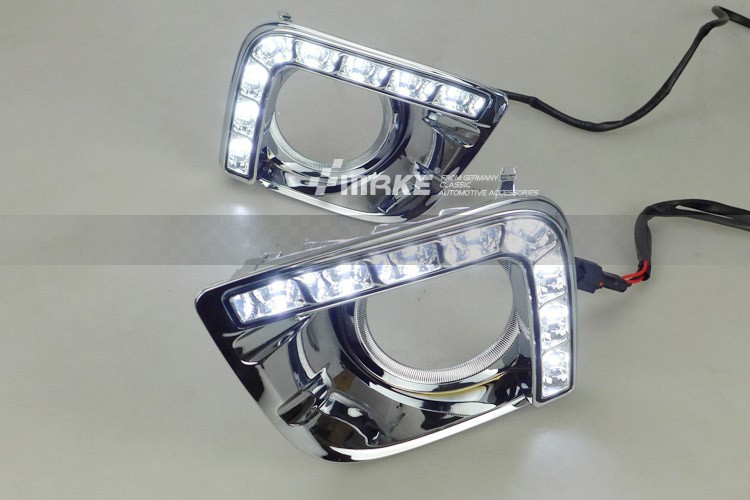 free shipping, for TY new Prado 2700 LC/FJ150 LED DRL Daytime running light fog lamp cover black or plating free shipping new arrival 35pcs pack 2m pcs led aluminum profile for led strips with milky or transparent cover and accessories