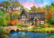 Full Diamond Embroidery Stoney Bridge Fall Cabins Cottages Diy Painting Cross Stitch Mosaic Sets Home Decorative