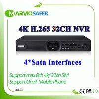 H.265/H.264 32ch 32 канала 4 К сети видео Регистраторы NVR IP Камера Запись Max 4 К HIMI Выход onvif 5 М 1080 P 4 Sata Порты