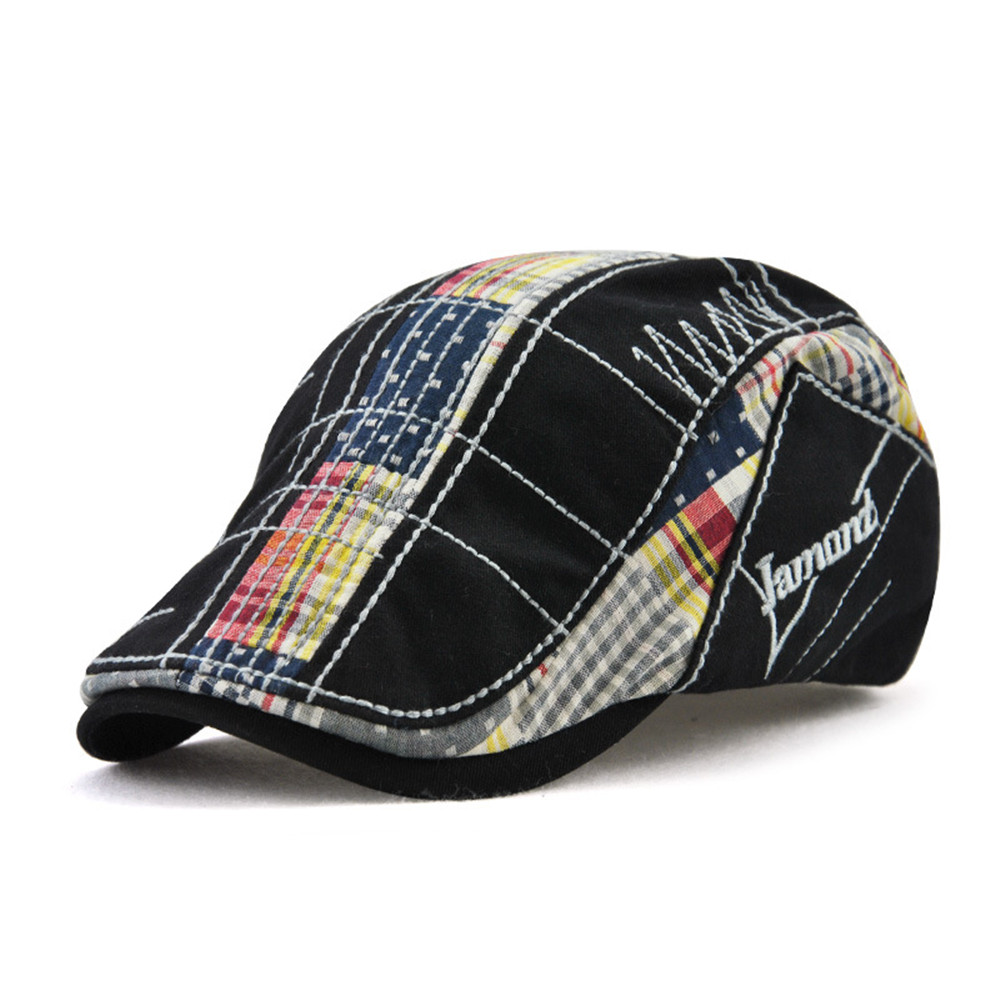 Fashion Unisex Beret Hats Splicing Duckbill Casquette Boina Buckle Visors Golf Driving Flat Detective Hat Casquette Newsboy Cap