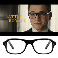 High Quality Acetate Kingsman Eyeglass Golden Circle Secret Service Glasses Harry Eggsy square Eyeglasses Frame British style