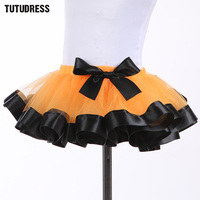 Pretty Cute Princess Girls Tutu Skirt Fluffy Pettiskirt Tulle Satin Girl Skirt For Birthday Party Festival