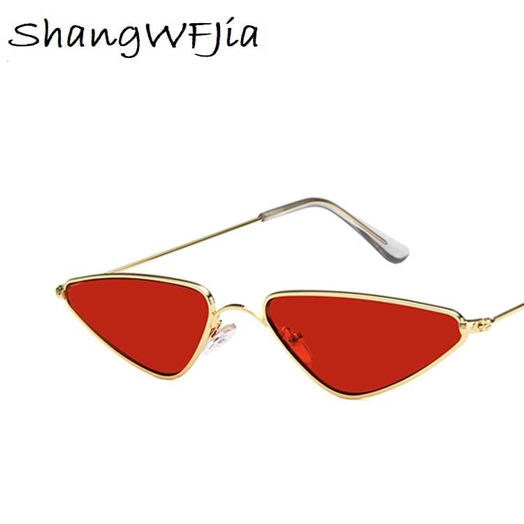 Sunglasses Women Small cat Eye Stylish 2019 Fashion Metal Frame glasses Designer Vintage Female Sun Glasses oculos feminino 1
