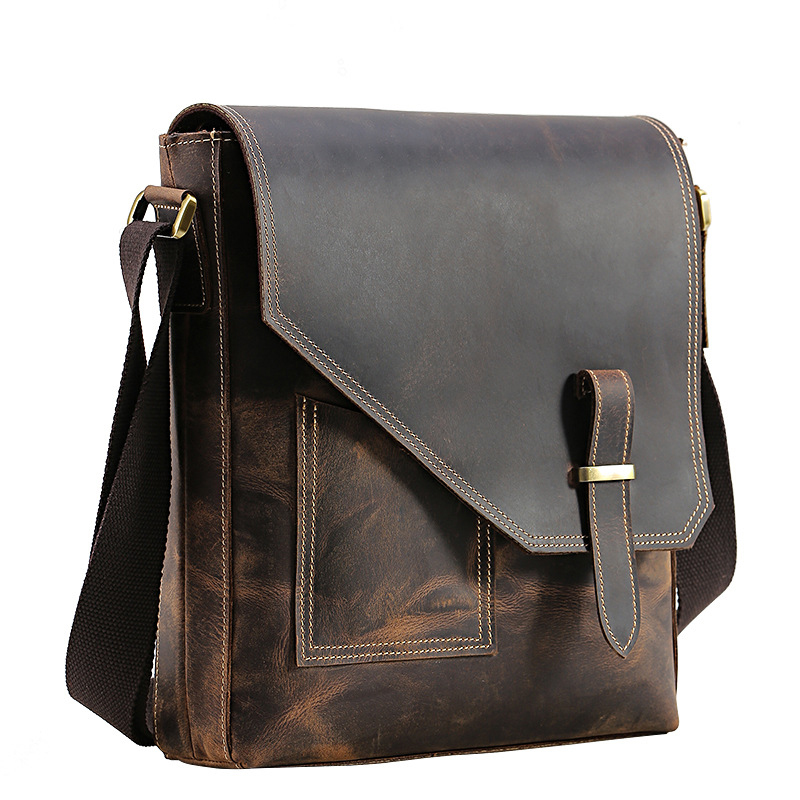 732dd3e4a2 TIANHOO bag men brand genuine leather bags mens shoulder crazy horse  leather retro style for male man