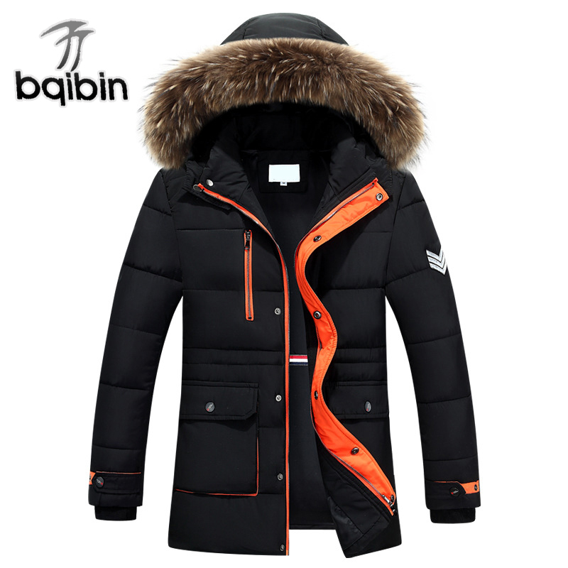 2017 Winter Men Jacket Casual Mens Winter Parka With Fur Hood Casual Warm Men's Coats Thick Long Parkas Clothing