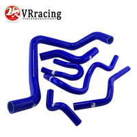 VR RACING 6PC Silicone Radiator Hose Silicone Hose Kit W Logo For HONDA CIVIC Type R