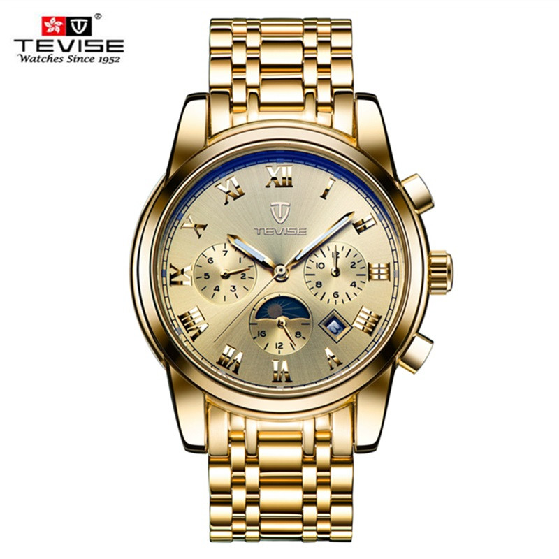 Men Watches Top Brand Luxury TEVISE Automatic Mechanical Watches Moon Phase Steel Clock Mens Wristwatches Relogio Masculino (18)