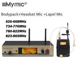 True Diversity 322 G3 Professional UHF Wireless Microphone Wireless System With BodyPack Transmitter Headset Headworn Lapel Mic