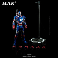 Collectible DFS014 1/9 Full Set Avenger Age of Ultr Iron Man Alloy Diecast Action Iron Man Patriot Doll for Fans Gift