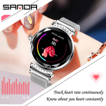 2019 SANDA NEW women smart watch  LED display screen fashion luxury brand wrist strap multifunction Waterproof