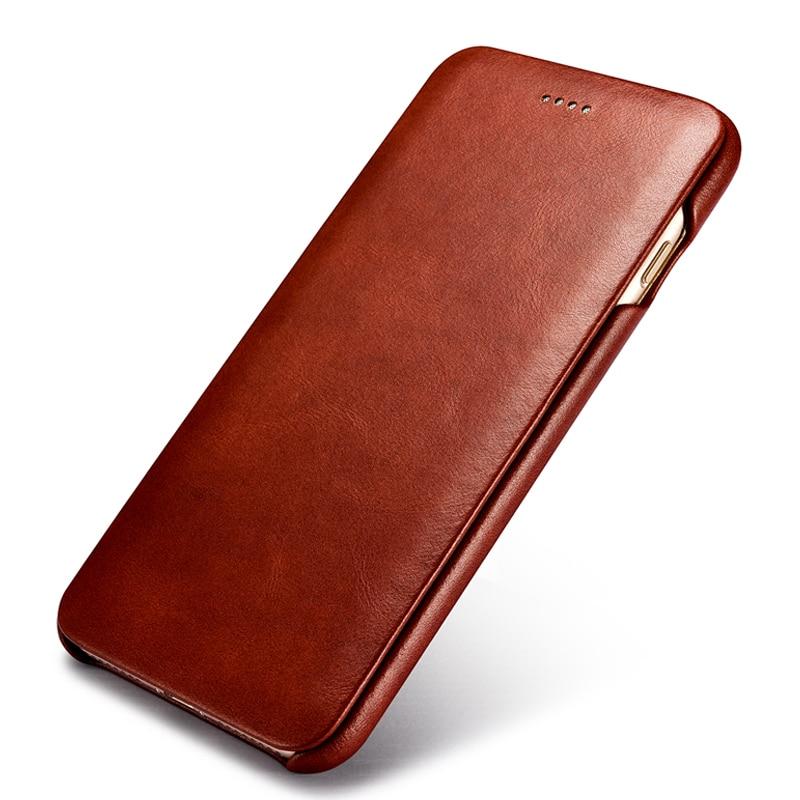 Retro Luxury Genuine Leather Original Mobile Phone Cases Accessories For Apple iPhone 6 6s Plus Full