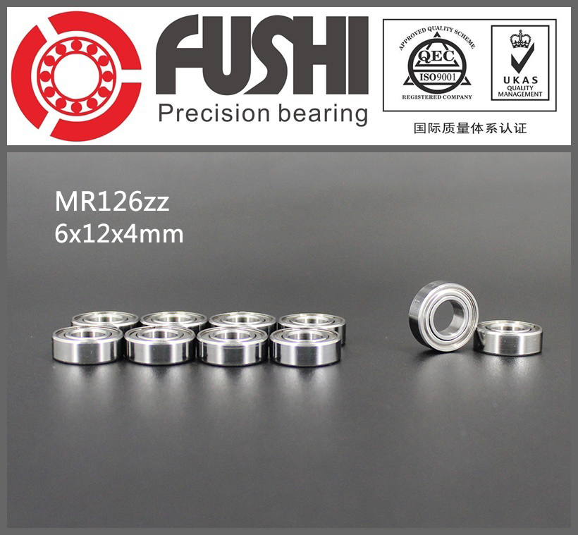 MR126ZZ Bearing ABEC-1 (10PCS) 6*12*4 mm Miniature MR126 ZZ Ball Bearings L-1260ZZ MR126z 6903zz bearing abec 1 10pcs 17x30x7 mm thin section 6903 zz ball bearings 6903z 61903 z