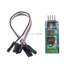5pcs/lot  Wireless Serial 4 Pin RF Transceiver Bluetooth  Module HC-06 RS232   with Cable 3.6V-6V  for Arduino UNO
