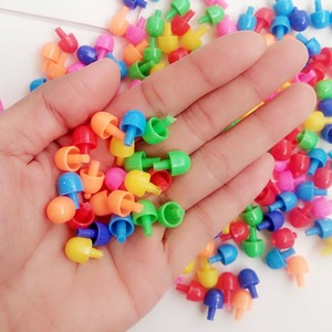 Image 2 - Heißer Verkauf 320 Pcs Mosaik Peg Board Puzzle Pilz Nägel Peg Puzzles Pädagogisches Spielzeug für Kinder