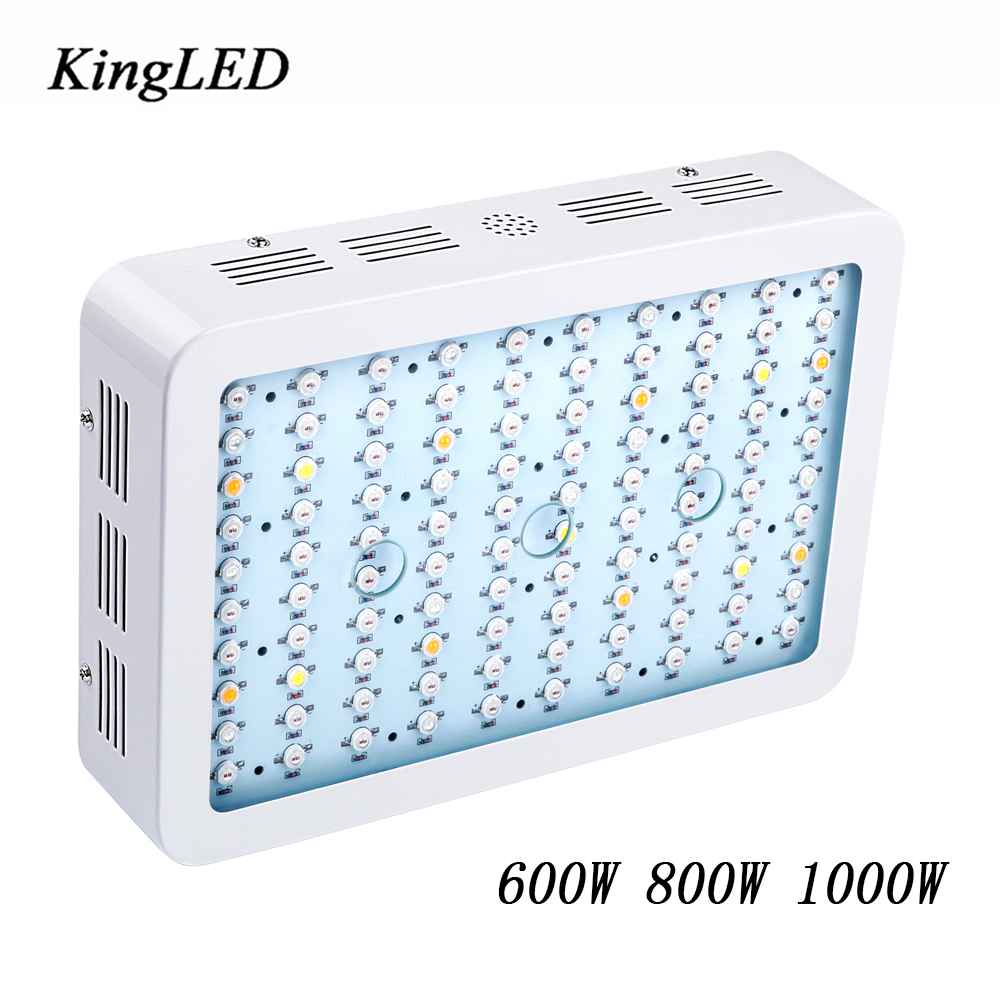 KingLED 600W 800W 1000W LED Grow Light Full Spectrum LED Lights for Indoor Medical Plants Grow and Flower Very High Yield on sale black kingled double chips full spectrum led grow light 600w 800w 1000w 1500w for aquario hydroponic lamp high yield