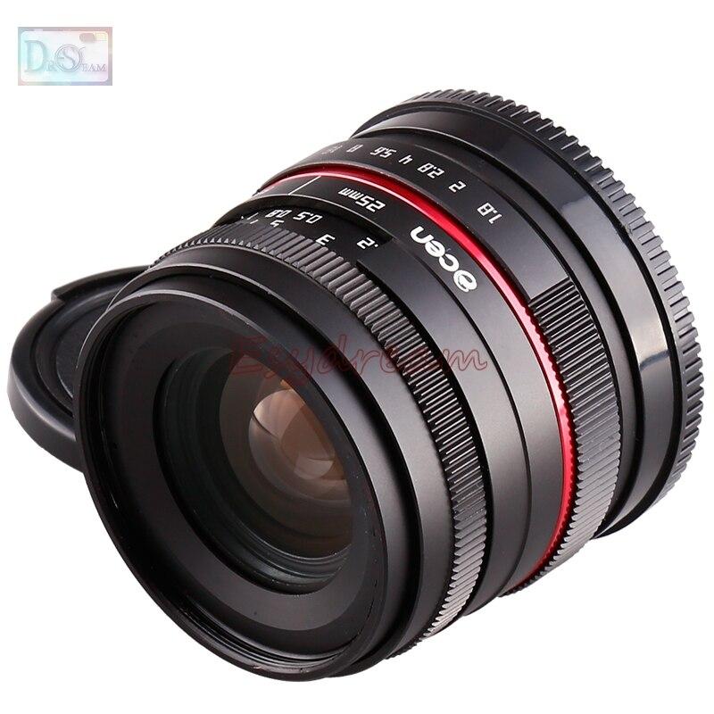 Prix pour 25mm 25 F1.8 Manuel Large Angle Lens pour Fujifilm Fuji FX X-T10 XT10 X-T2 XT2 X-T1 XT1 X-A3 X-A2 X-A1 XA1 XA2 XA3 X-PRO2 X-PRO1