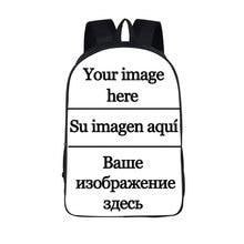 Купить с кэшбэком Customize Women Men the image Backpacks Travel Bags Boys Girls Anime School Bags Backpack Children Book Bag kids Gift Backpacks