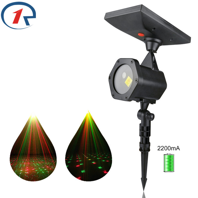 ZjRight Solar Power Supply Laser Stage Light Build In Battery Dj Disco Halloween Christmas Holiday Party