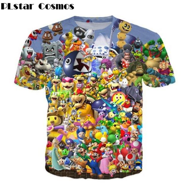 Plstar Cosmos Super Mario Partido Beber Juego Stitch Goku Impresion