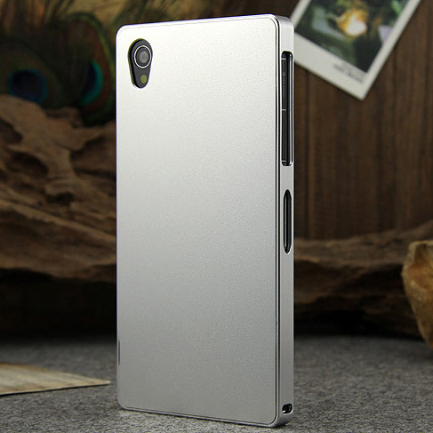 "For Sony Xperia Z1 Aluminum Metal Case Ultra Thin No Screw Hard Metal Cover For Sony Xperia Z1 L39H C6906 C6903 5.0"" Phone Cases"